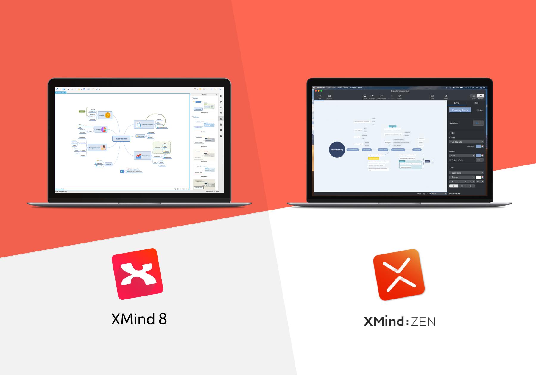 XMind Blog: Compare XMind: ZEN and XMind 8